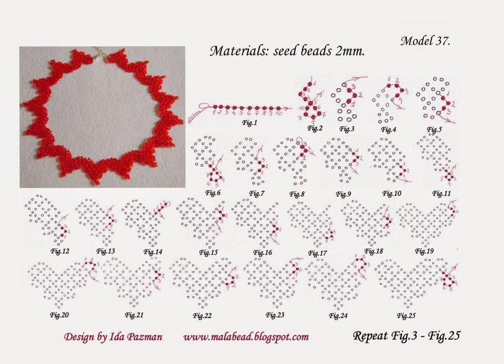 free beadwork pattern, MalaBead: Model 37.