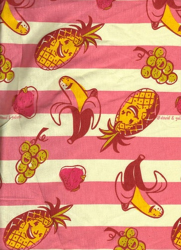 Fruits Print Cotton Jersey Fabric by sewmanydiapers on Etsy, $7.00