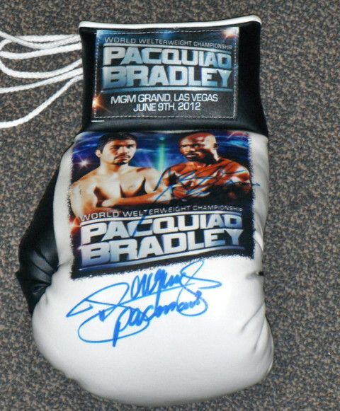 2012 Manny Pacquiao & Timothy Bradley Autographed Signed Everlast Boxing Glove