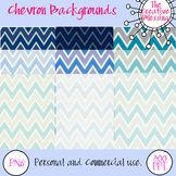 9 Blue Chevron Background Papers