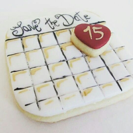 Save the date cookie - wedding favor Bomboniera biscotto