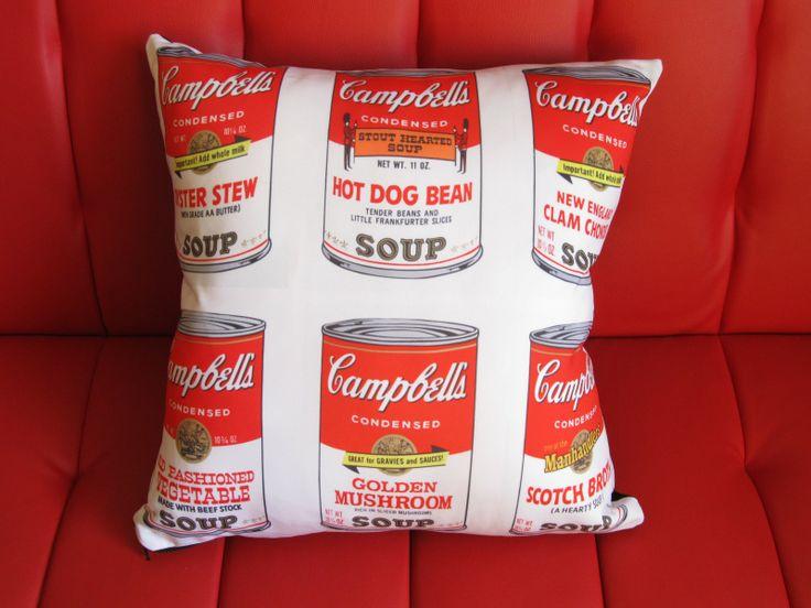 #campbells #cojin #popart