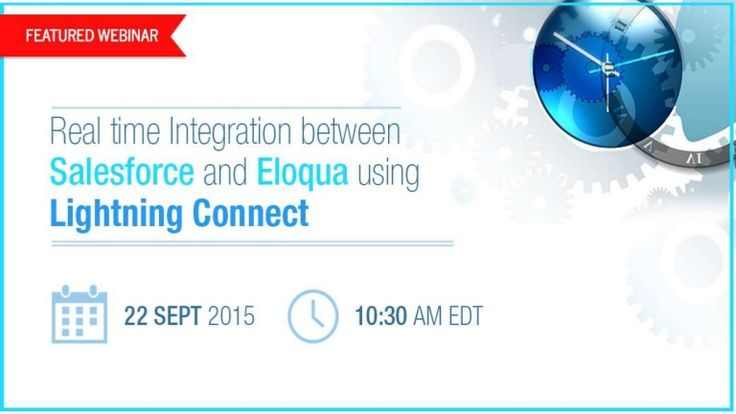Salesforce1 Lightning Connect helps in connecting Salesforce with other legacy application/back office tools such as SAP, Eloqua and SQL Database. It provides a seamless view of data to the user, which resides outside the Salesforce Org. Using the external object, Lightning Connect maps to the external data tables, and brings data in real time.  In this webinar, learn how to employ the power of Lightning Connect to integrate Salesforce with Eloqua, and make your customer world run ever…