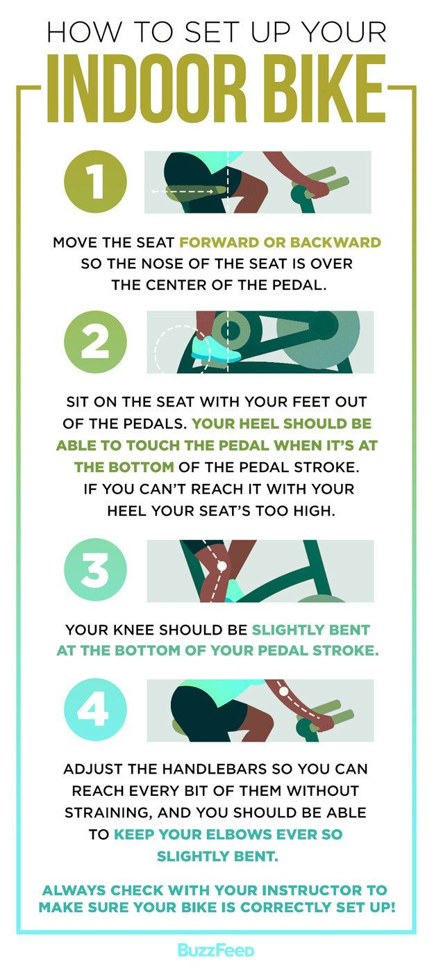 Here's what to know about setting up your bike: | 19 Things You Should Know Before Trying An Indoor Cycling Class