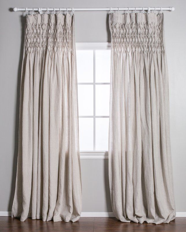 Single Solid Color Semi Sheer Pinch Pleat Curtains Pinch Pleat