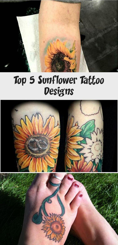 Top 5 Sunflower Tattoo Designs   Sunflower tattoo ...
