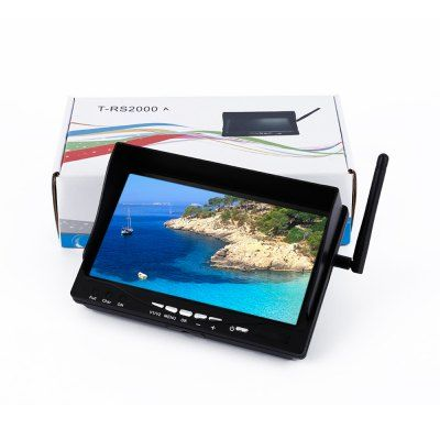 T - RS2000 FPV Aerial 7 inch 5.8GHz 32 Channel Auto Search Display Monitor