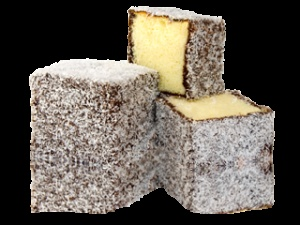 "Pound Cake - Rolled in Chocolate and coconut (""Australian Lamingtons"")"