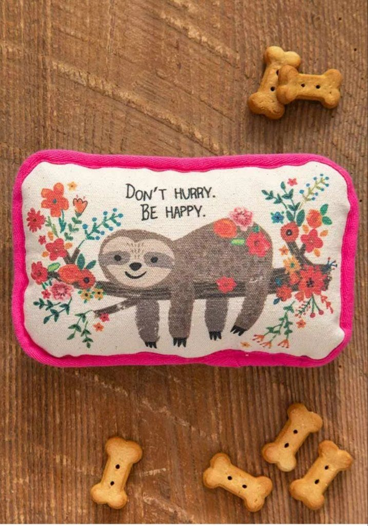 Be Happy Sloth Dog Toy In 2020 Dog Toys Pet Gifts Super Cute Dogs