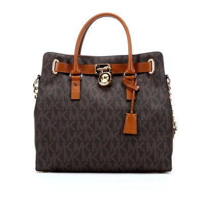 Maple and West MICHAEL Michael Kors Hamilton Signature Tote Bag - Brown