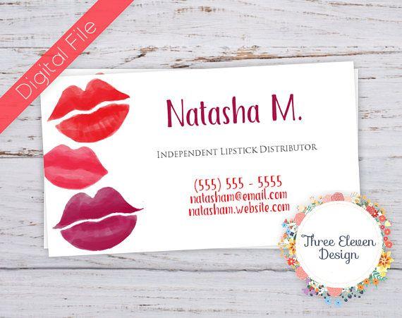 Lipstick Makeup Printable Business Card