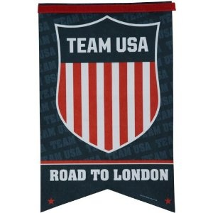 Price: $21.95 - Olympics USA Olympics London 2012 17'' x 26'' Shield Banner Flag - TO ORDER, CLICK ON PHOTO