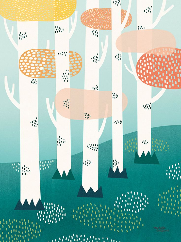 Forest by Michelle Carlslund   Poster from theposterclub.com