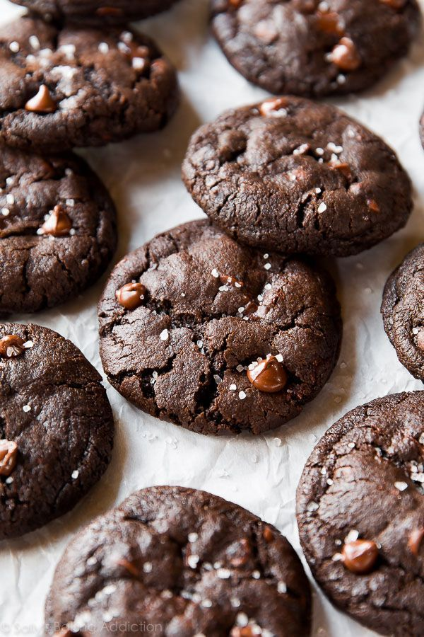 Salted Dark Chocolate Cookies.
