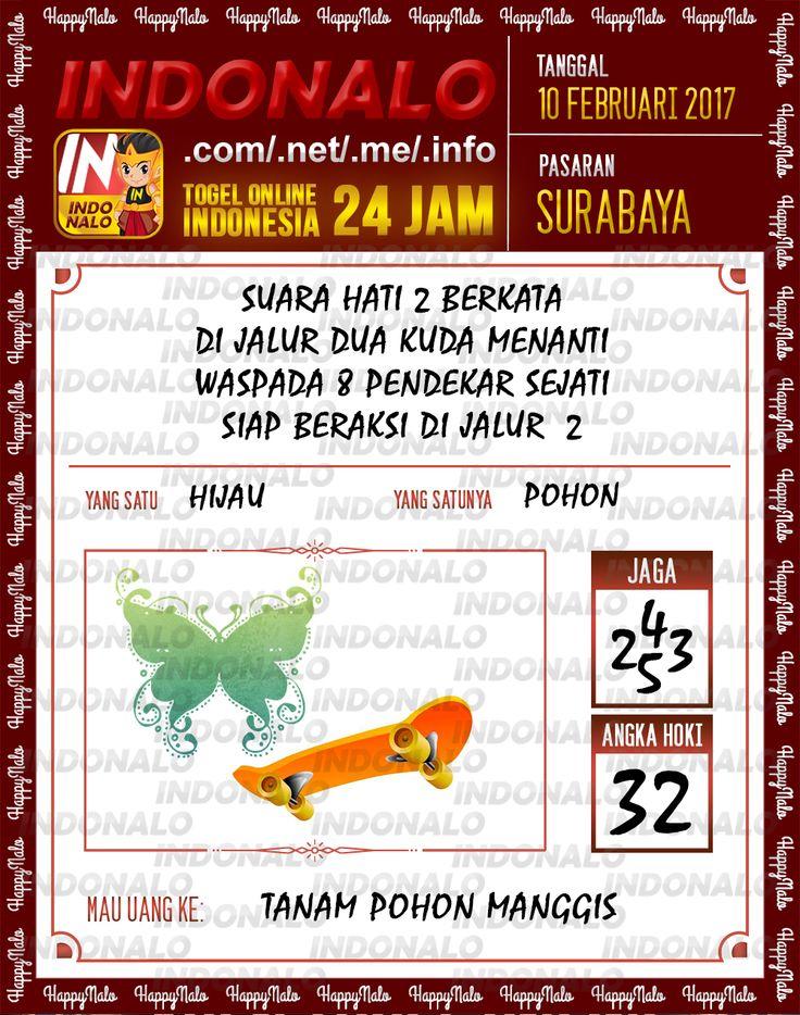 Angka Taysen 6D Togel Wap Online Live Draw 4D Indonalo Surabaya 10 Februari 2017