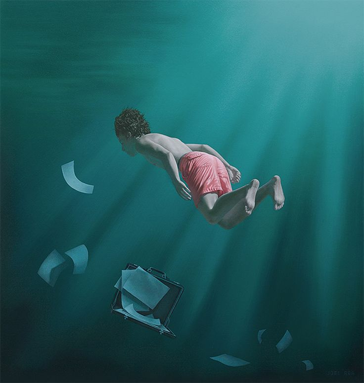 """Recent work by contemporary surrealist Australian artist Joel Rea.  """"Wikipedia describes Contemporary art as having developed from Postmodern art and although Joel Rea is very much alive and is dealing with issues of our present time, his work is far removed from the multimedia and purely conceptual work that has come to define Postmodernism and much of what is referred to as Contemporary art. To me Rea's work moves in separate direction, one that is reconstructive, or Post Contemporary,..."""
