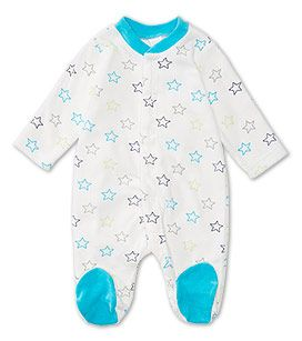 babies gr 50 92 baby schlafanzug in blau weiss mode. Black Bedroom Furniture Sets. Home Design Ideas