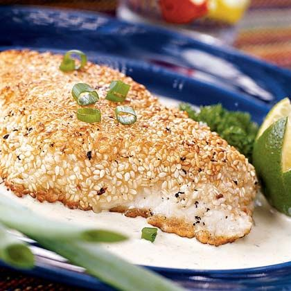 Learn how to make Sesame-crusted Halibut with Poblano Cream Sauce. MyRecipes has 70,000+ tested recipes and videos to help you be a better cook.