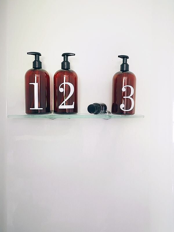 DIY Shampoo and Conditioner Bottles