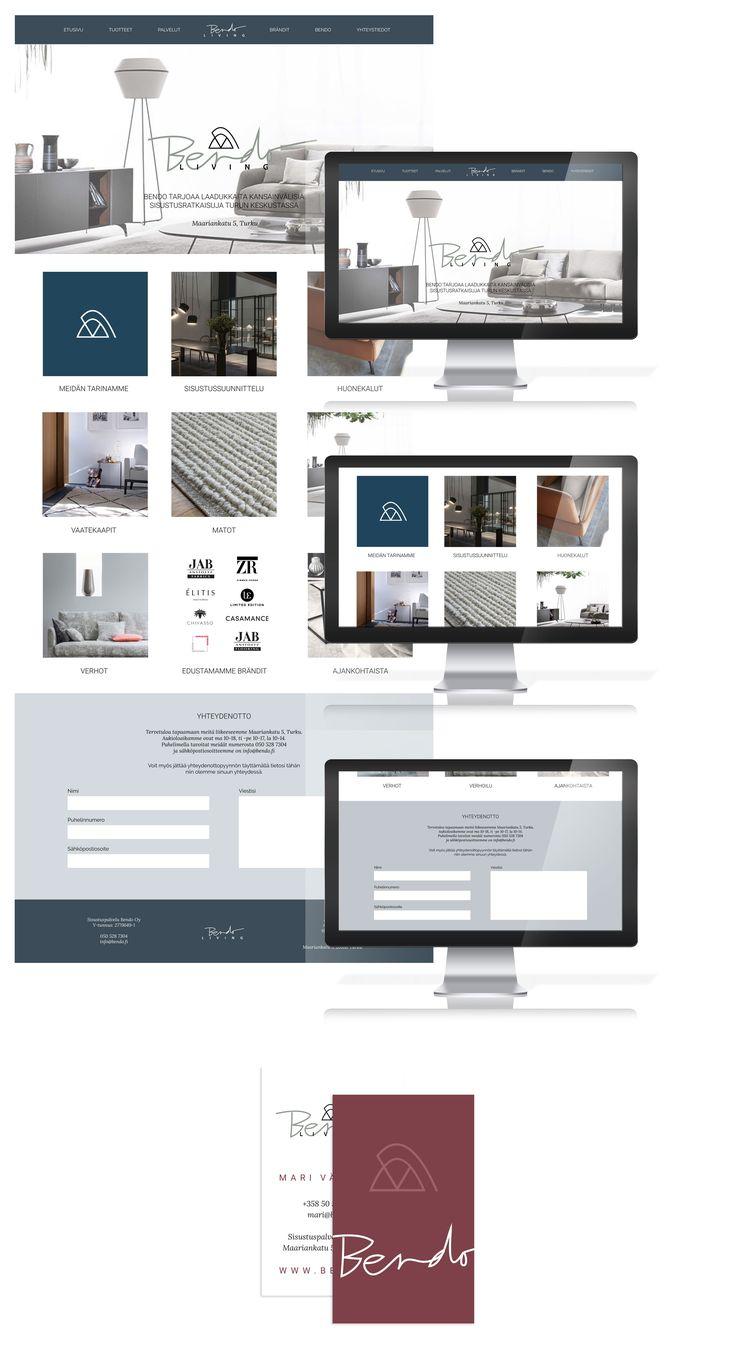 Logo design and brand identity by Annika Välimäki for Bendo Living / Logosuunnittelu, graafinen suunnittelu