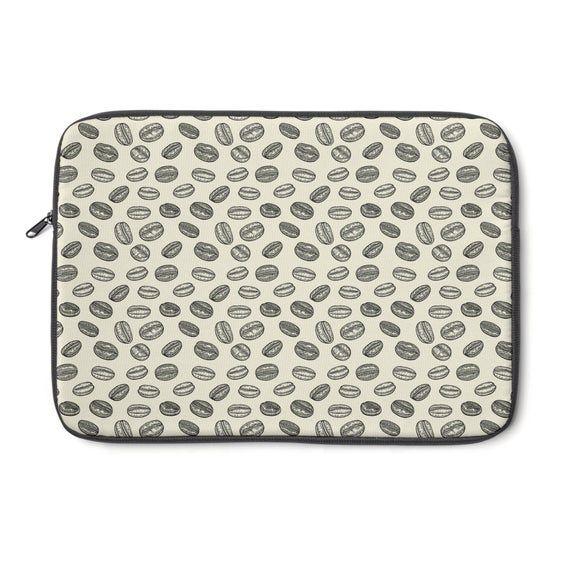 Laptop / Macbook Sleeve Coffee Bean – 12″ 13″ 15″ Padded Sleeve with Zipper – Macbook Air, Pro Skin