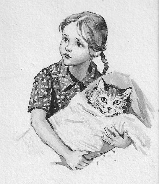 """иллюстрация к книге Н.Калининой """"Наша лучше всех""""   Автор: Воробьева И.Н. : 1962"""
