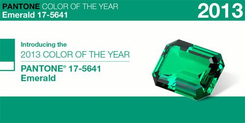Pantone Color of the Year for 2013 - Emerald