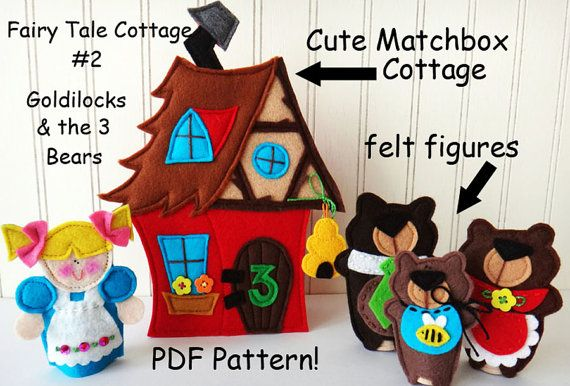 FAIRY TALE MATCHBOX Cottage 2 Goldilocks and the 3 by LindyJDesign