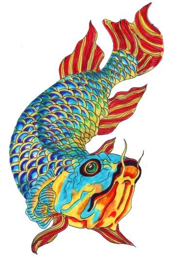 21 best fish ideas images on pinterest fish fishing and for Tattoo koi fish color meaning
