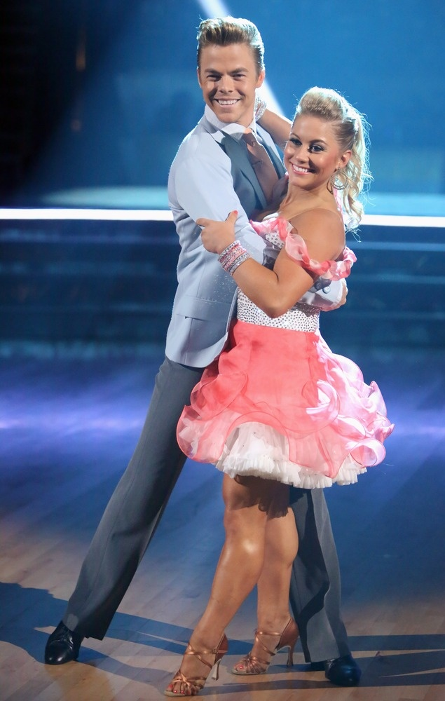 Exclusive Q and A with Shawn Johnson: Nobody's safe with tonight's double elimination on 'Dancing With the Stars': http://theclicker.today.com/_news/2012/10/09/14314027-shawn-johnson-nobodys-safe-with-tonights-double-elimination-on-dancing-with-the-stars?lite (Photo: ABC)
