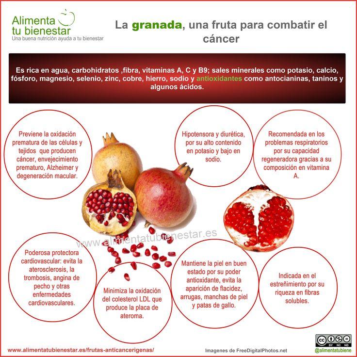 Propiedades y beneficios de la granada para la salud, aliada contra el #cancer