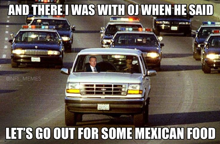 Of course Brian Williams was with OJ