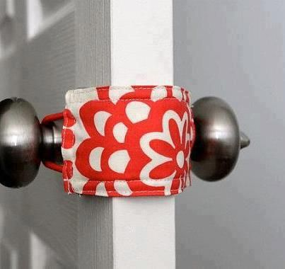 Fabric door stop - Brilliant and so easy!