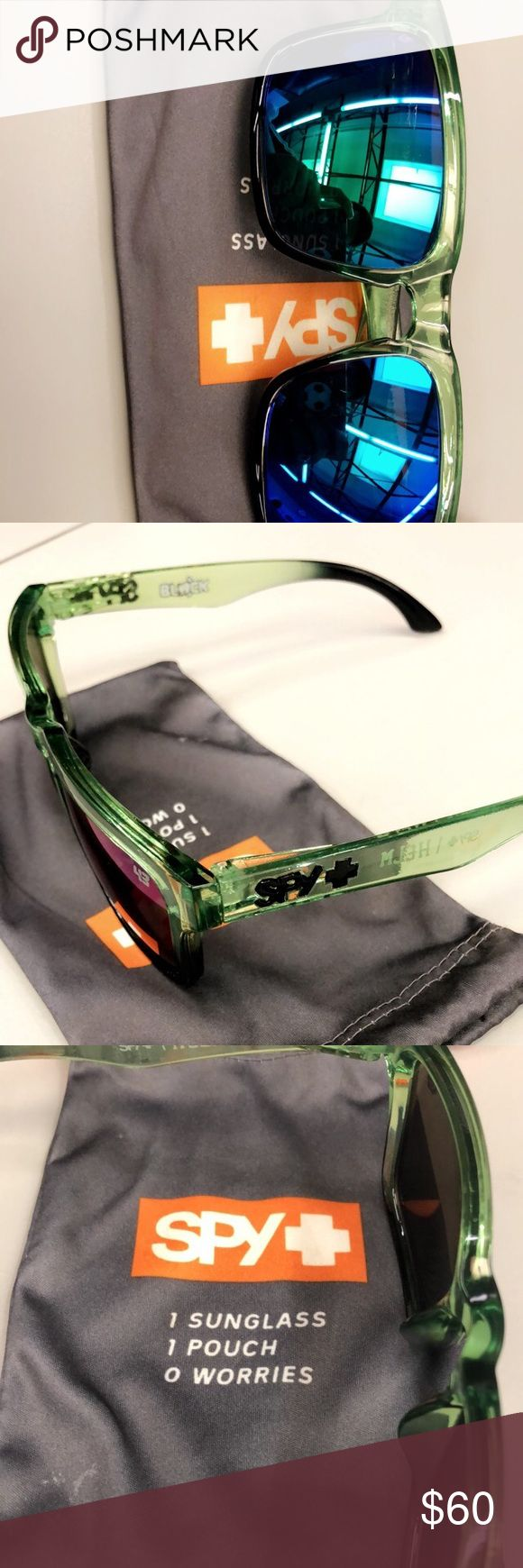 Spy Sunglasses Like New Like new Spy sunglasses, have a pair of Green Helm's with blue lenses and a pair of Flynn used for snowboard, Surf, Quad riding type of shades, both like new only used once or twice. Super expensive shades selling dirt cheap. $60 each SPY Accessories Glasses