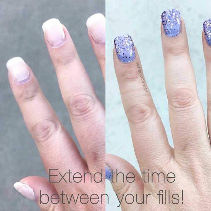 Did You Know That You Can Extend Your Refill On Your Acrylic Nails Just Put Some Color Street On And You Color Street Nails Color Street Acrylic Nails At Home