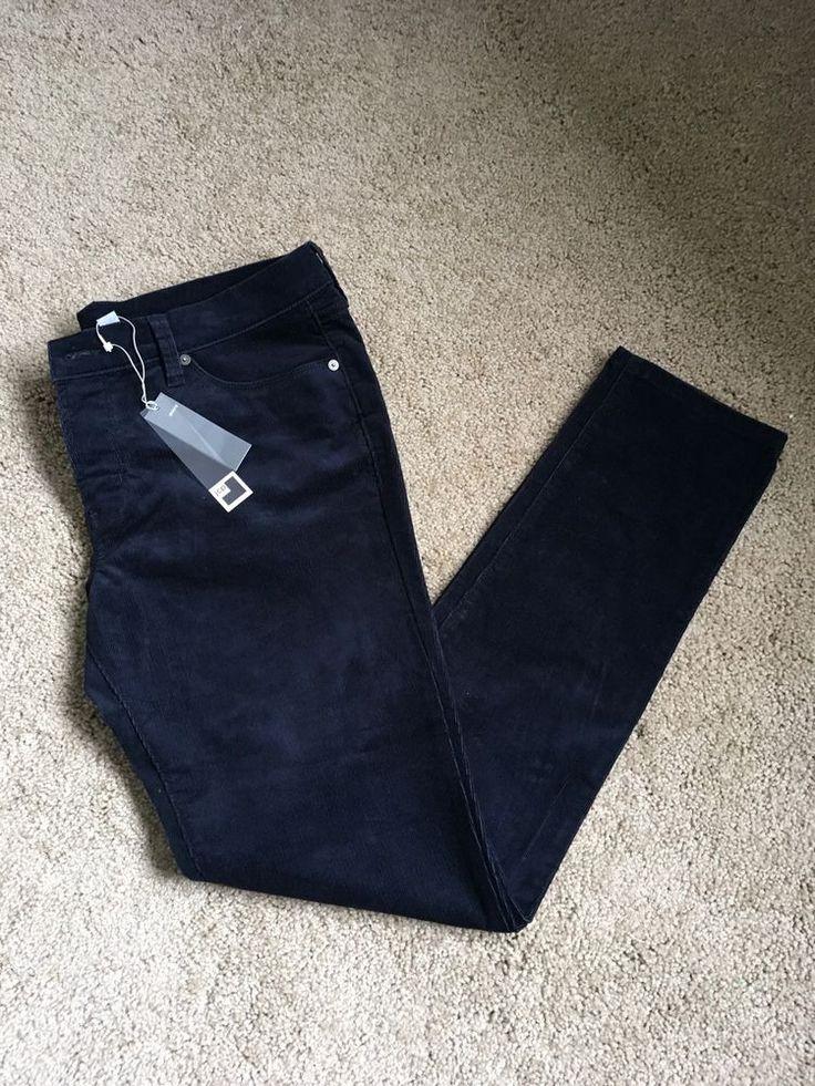 Women's JCP Skinny Jeans Corduroy Blue Darkest Sky Size 31/12  | eBay