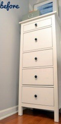 Turn a Hemnes dresser into a campaign dresser. | 37 Cheap And Easy Ways To Make Your Ikea Stuff Look Expensive