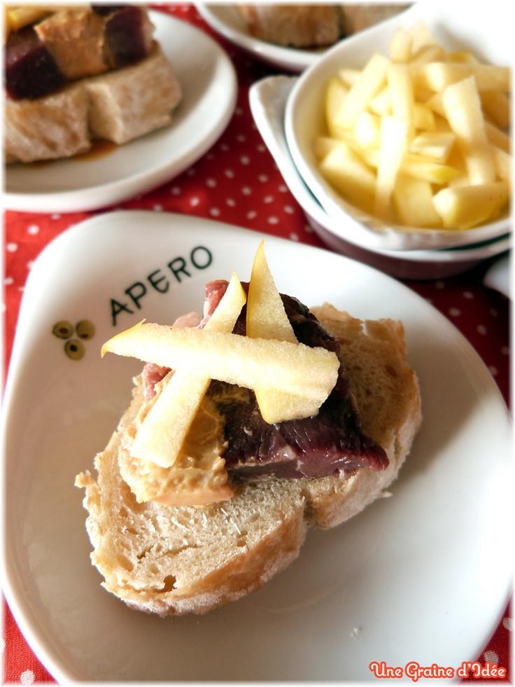 50 best images about foie gras aux pommes on pinterest for Amuse bouche foie gras aperitif