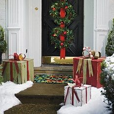 Outdoor Christmas Decorations - Outdoor Christmas Decor - Grandin Road: