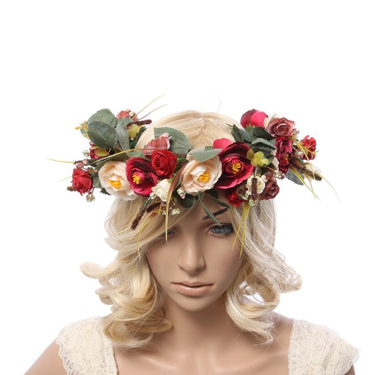 Cheap headband earphone, Buy Quality accessories tree directly from China headband hair Suppliers: New Women Wedding Rose Flower Wreath headband Kids Party Floral garlands with Ribbon Adjustable flower crown Hair Access