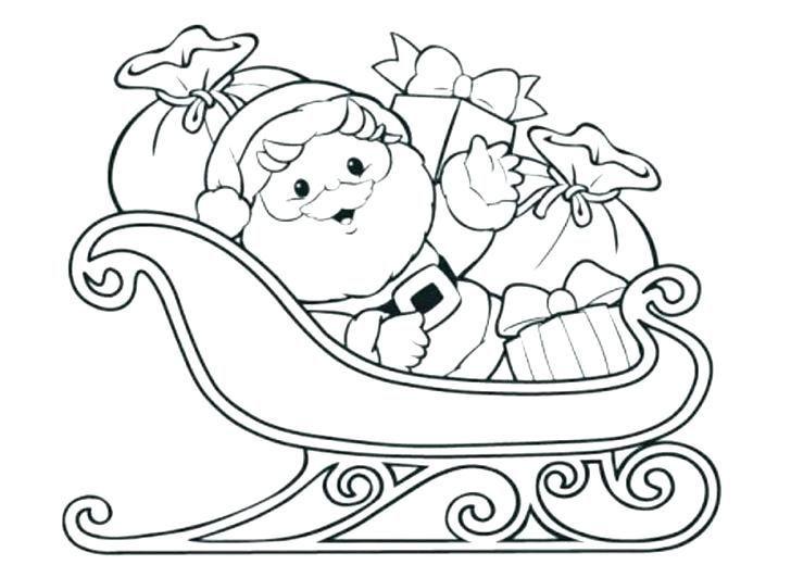 Santas Sleigh Coloring Page Printable Santa Coloring Pages