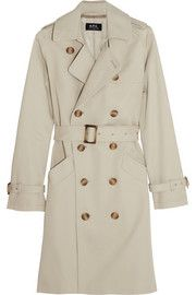 A.P.C. Atelier de Production et de Création Cotton-twill trench coat