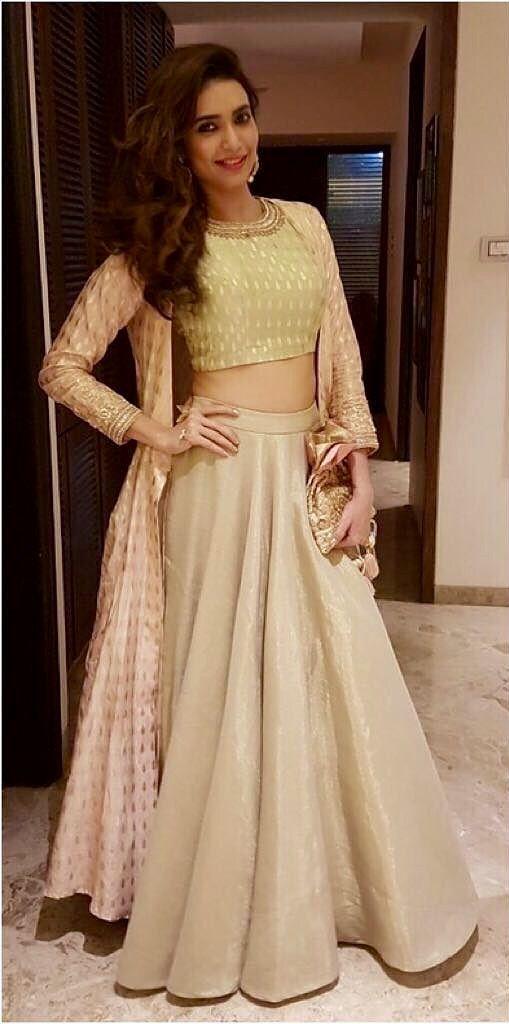 A elegant. Anamika Khanna creation.                                                                                                                                                                                 More