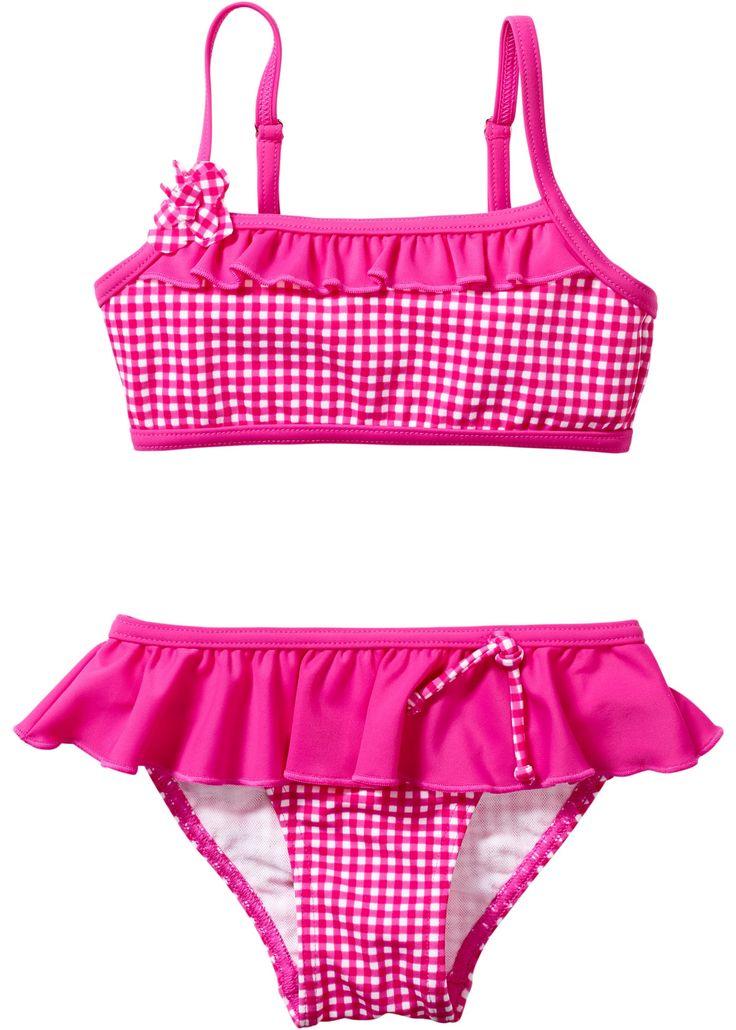 Bikini pink kariert - bpc bonprix collection jetzt im Online Shop von bonprix.de ab ? 13,99 bestellen. Träger zum Verstellen und Kreuzen. Mit Rüschen und ...