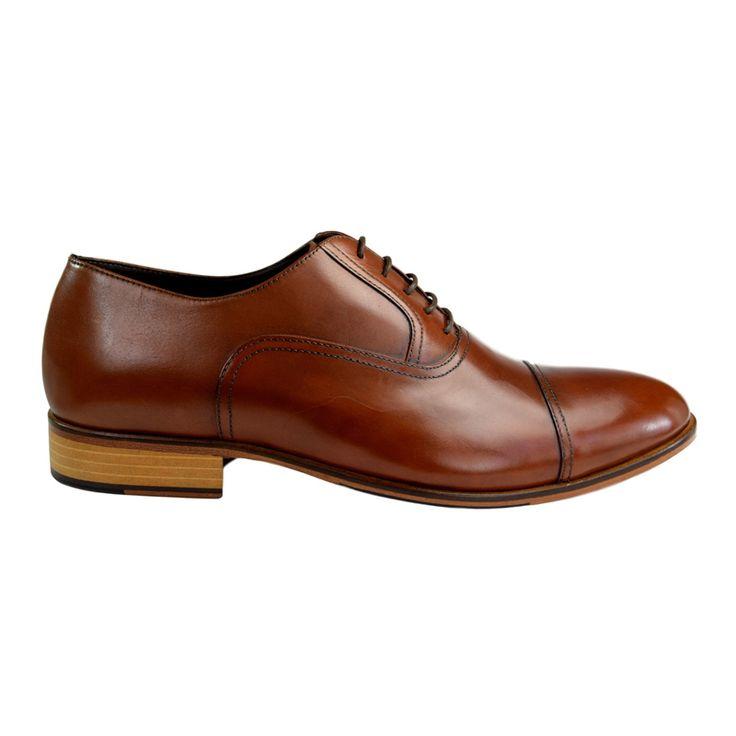Pantofi din piele maro cognac