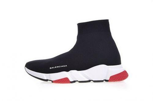 prix compétitif 16857 e089c Balenciaga Speed Stretch-Knit Mid Trainers Noir Blanc Rouge ...