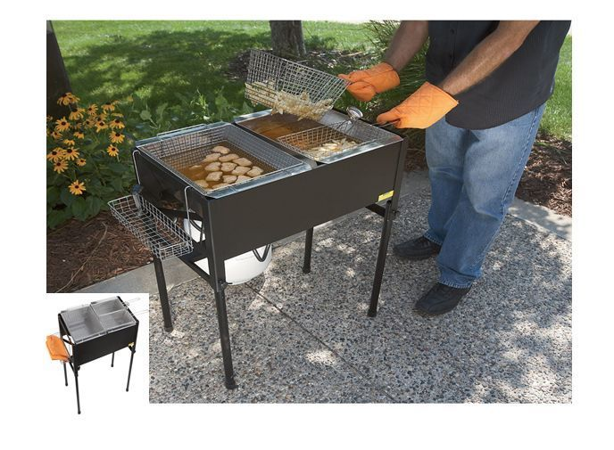 Outdoor outside deep fryer cookout bbq fish fry food for Fish fryer basket