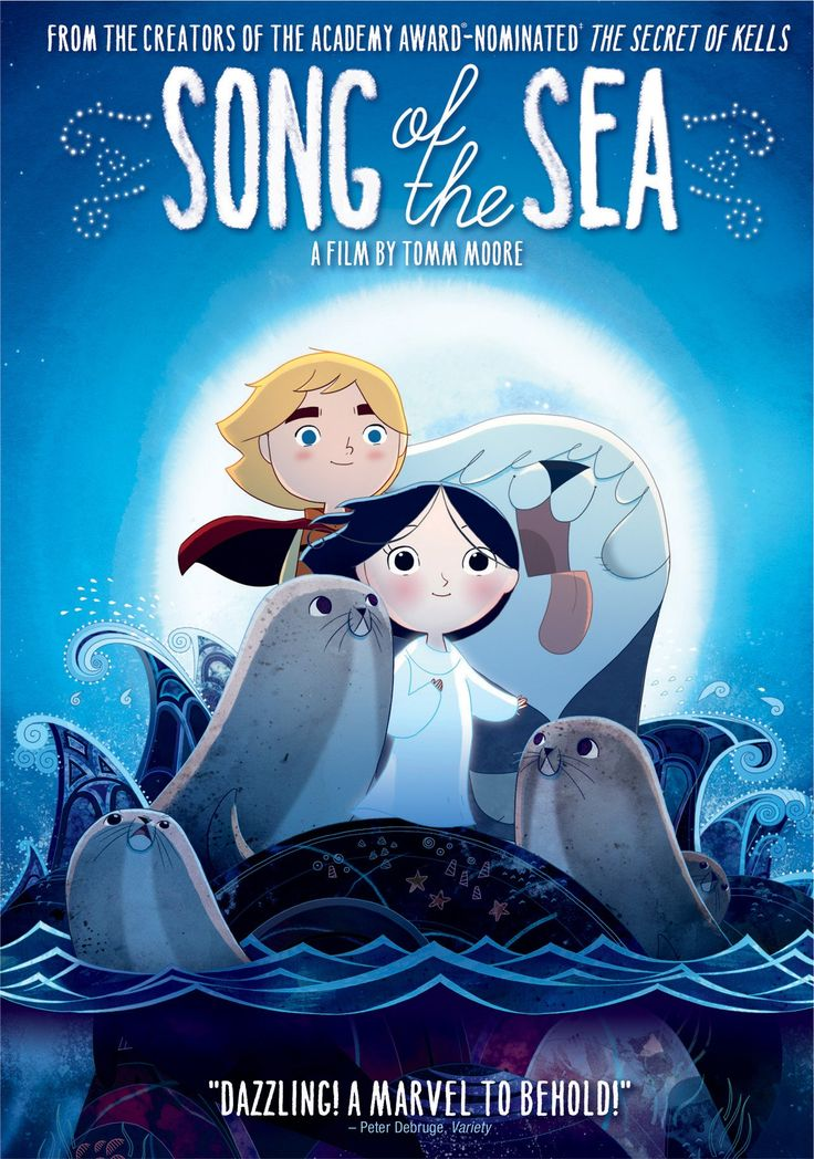 Song of the Sea (2014) ... Ben, a young Irish boy, and his little sister Saoirse, a girl who can turn into a seal, go on an adventure to free the faeries and save the spirit world. (15-Sep-2015)