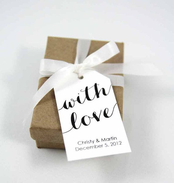 With Love Custom Tags  Medium Size  Wedding by TaggedWithLoveShop, $16.25