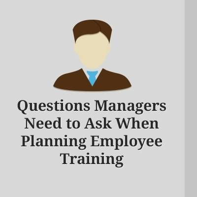 5 questions to answer before plan Employee Training  Nothing makes a business stronger that the employees that work for it. At the same time, there is no way to have successful and high-performing employees without proper training. At the following article you will find 5 questions that you have to answer before planning employee training.  http://elearningindustry.com/questions-that-every-manager-should-ask-when-planning-employee-training